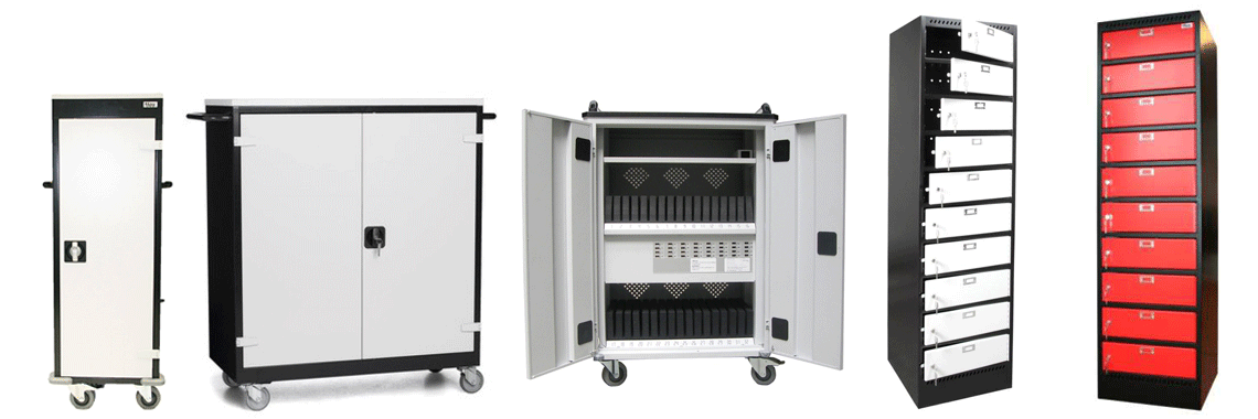 Laptop lockers, laptop trolley, tablet locker, tablet trolley